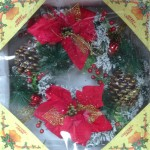 35cm Pre-Dressed Red Wreath