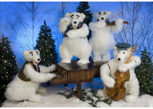 Polar Bear Band - Christmas Animations from Dublin Display Co