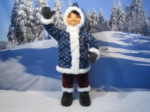 Animated eskimo figure - Dublin Display Co