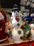 Snowman Figure with Candy Cane - Dublin Display Co