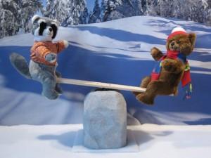 Animated Teddy Bear Figures