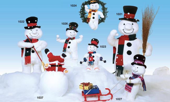 animated snowmen figures from dublin display co - Animated Christmas Figures
