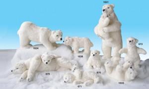 Animated Polar Bear Figures from Dublin Display Co
