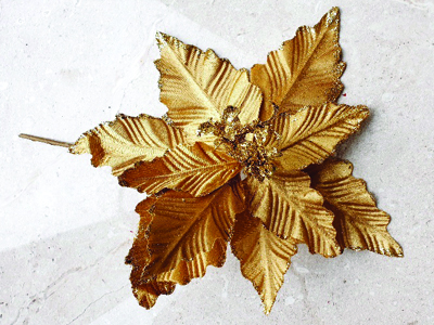 Gold flower for christmas decoration